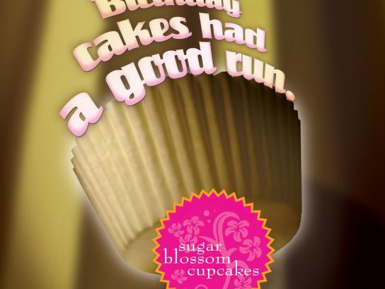 Sugar Blossom Cupcakes Print Ad -  Birthday