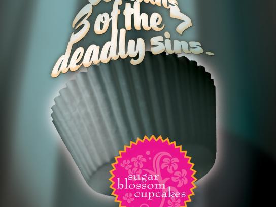 Sugar Blossom Cupcakes Print Ad -  Sins