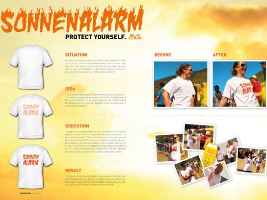 Sun Look Ambient Ad -  T-Shirts with sun alert