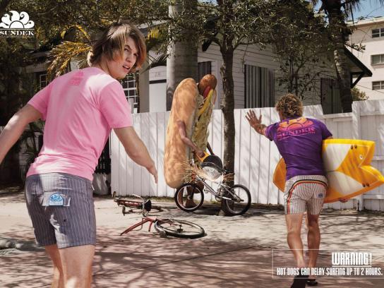 Sundek Print Ad -  Hot dog