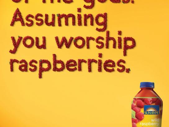 Sun-Rype Print Ad -  Raspberries
