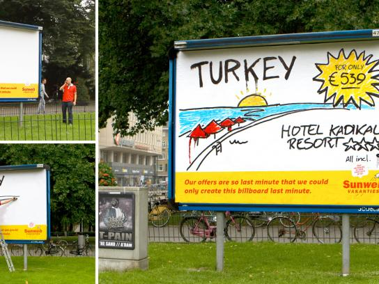 Sunweb Travel Outdoor Ad -  Last Minute Billboard