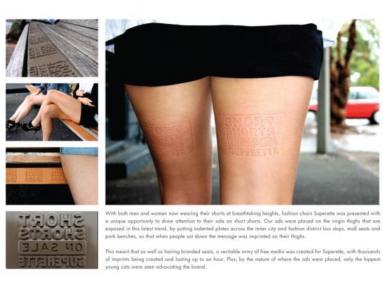 Superette Ambient Ad -  Short shorts at Superette