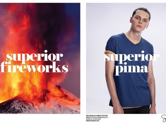 Supima Print Ad -  Superior Fireworks