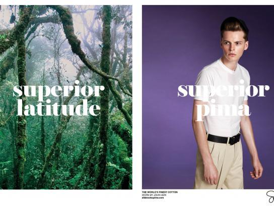 Supima Print Ad -  Superior Latitude
