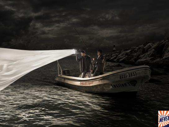 Nevex Print Ad -  Fisherman