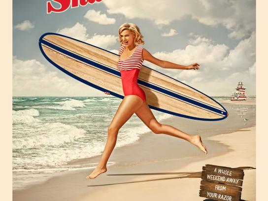 Schick Print Ad -  Surfboard