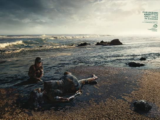 Surfrider Foundation Print Ad -  Oil Spill