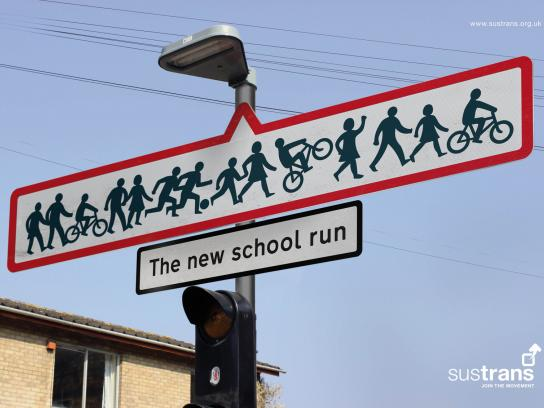 Sustrans Print Ad -  School Run