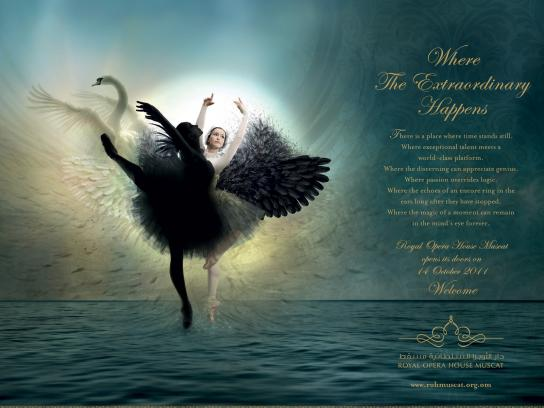 Royal Opera House Muscat Print Ad -  Swan Lake