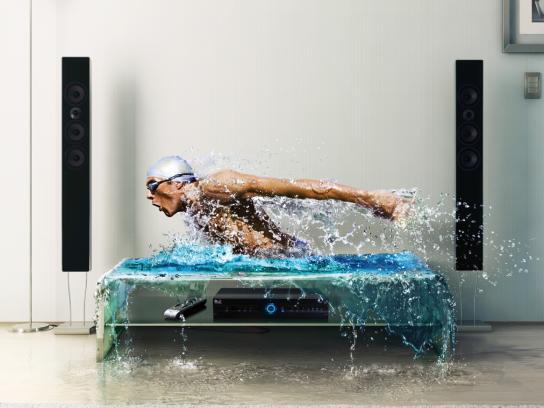DIRECTV Print Ad -  Swimmer