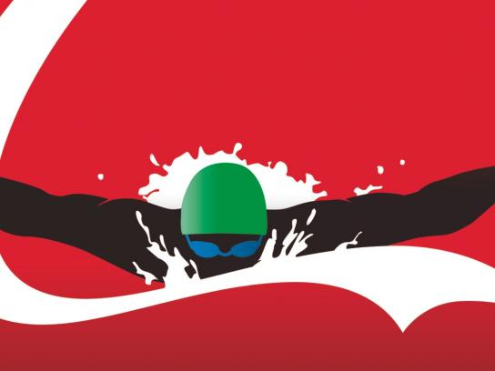 Coca-Cola Outdoor Ad -  Athletes, Swimmer