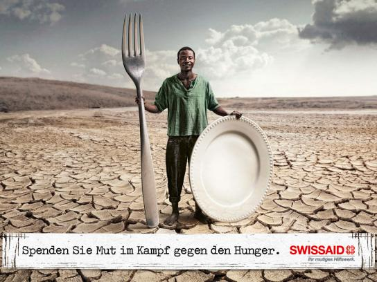 Swissaid Print Ad -  Donate courage