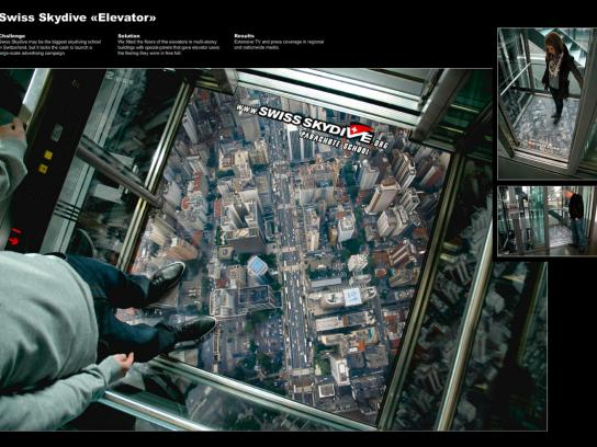 Swiss Skydive Ambient Ad -  Free fall