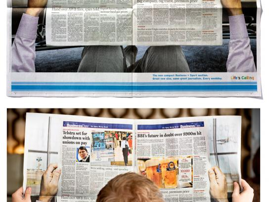 The Sydney Morning Herald Print Ad -  Size Change