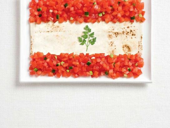 Sydney International Food Festival Print Ad -  Flags, Lebanon