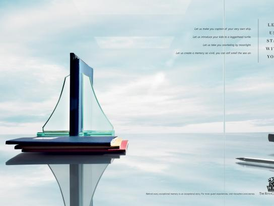 The Ritz-Carlton Print Ad -  Sailboat