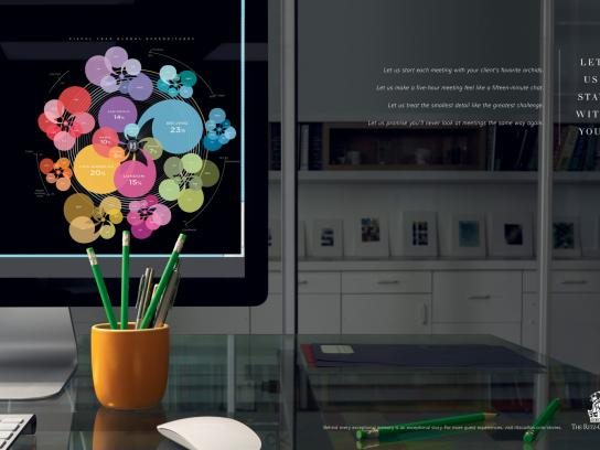 The Ritz-Carlton Print Ad -  Flower Arrangement