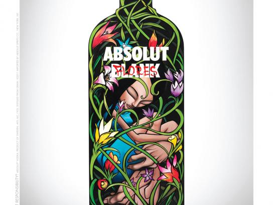 Absolut Print Ad -  Blank, Flores