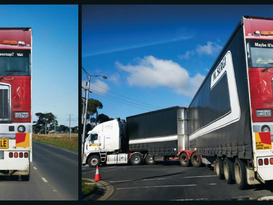 TAC Outdoor Ad -  Truck Back
