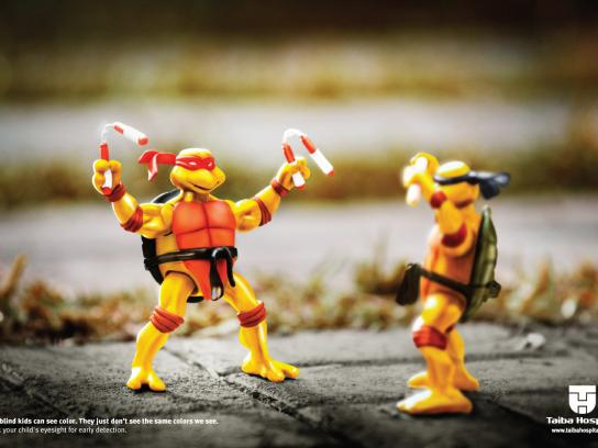 Taiba Hospital Print Ad -  Teenage Mutant Ninja Turtles