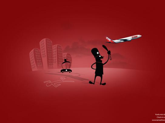 TAM Airlines Print Ad -  Check in on-line, 1