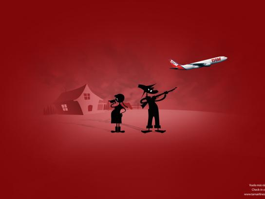 TAM Airlines Print Ad -  Check in on-line, 2