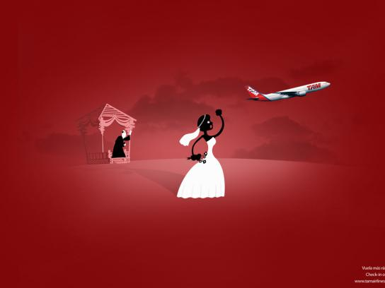 TAM Airlines Print Ad -  Check in on-line, 3