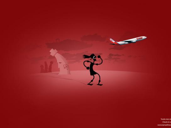 TAM Airlines Print Ad -  Check in on-line, 4