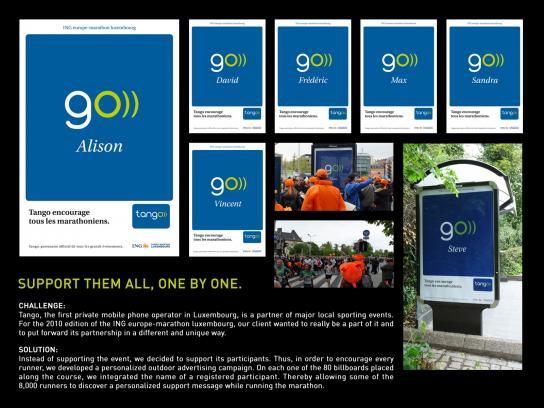 Tango Outdoor Ad -  ING marathon