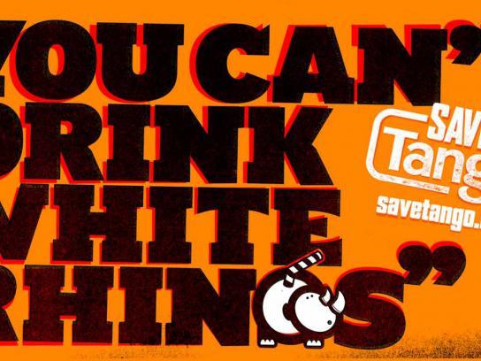 Tango Print Ad -  White rhinos