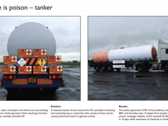 Smoke Is Poison Tanker
