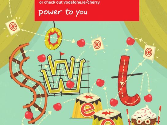 Vodafone Print Ad -  Cherry Points, Circus