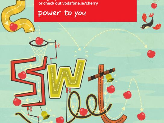 Vodafone Print Ad -  Cherry Points, Mousetrap