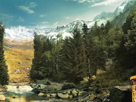 Tatra Beer Print Ad -  Trees