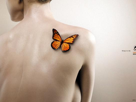 Tattoo Invaders Print Ad -  Butterfly