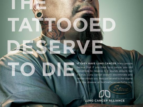 Lung Cancer Alliance Print Ad -  Tattooed