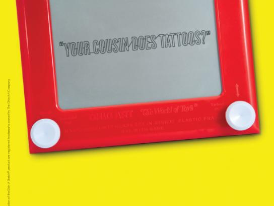 Etch A Sketch Print Ad -  Tattoos