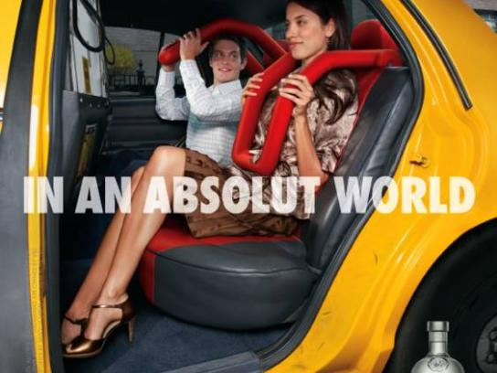 Absolut Print Ad -  Taxi