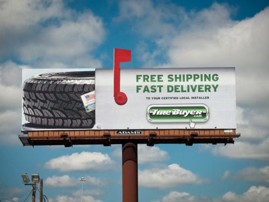 Tirebuyer.com Outdoor Ad -  Mailbox Billboard