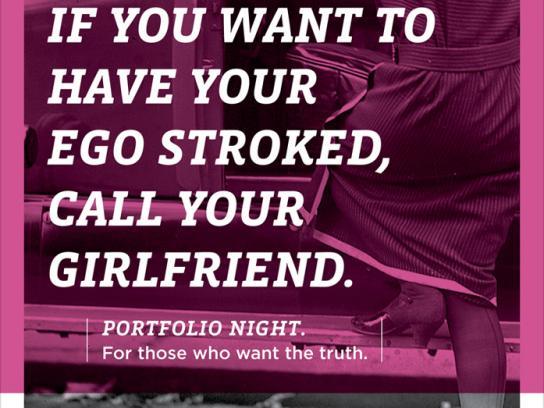Portfolio Night Print Ad -  Girlfriend