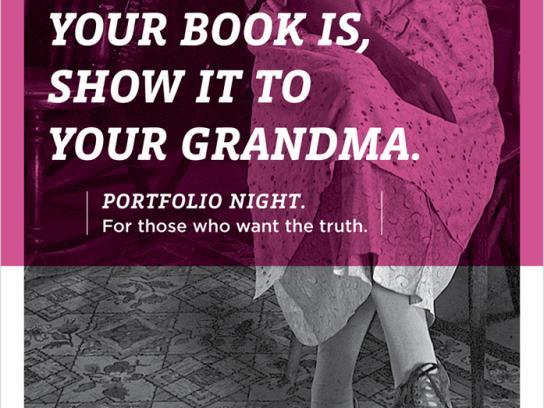 Portfolio Night Print Ad -  Grandma