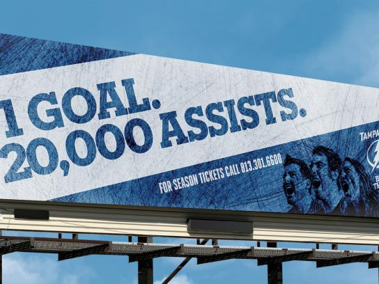 Tampa Bay Lightning Outdoor Ad -  1 goal