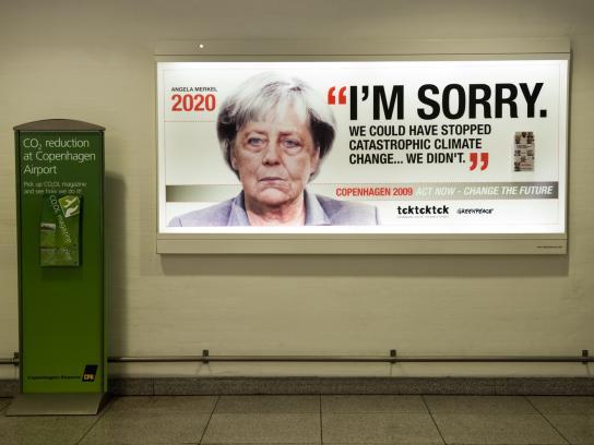 Greenpeace Outdoor Ad -  Angela Markel