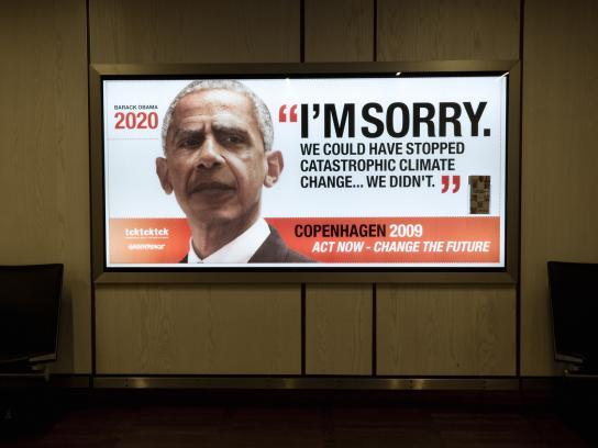 Greenpeace Outdoor Ad -  Barack Obama