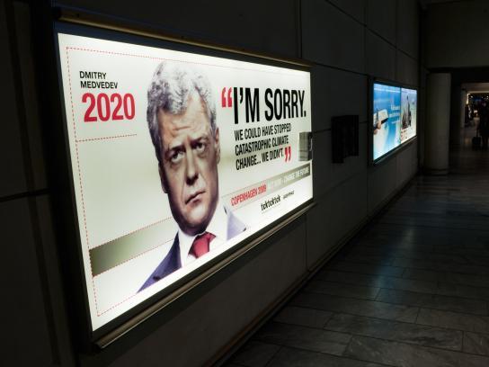 Greenpeace Outdoor Ad -  Dmitry Medvedev