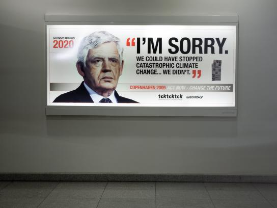 Greenpeace Outdoor Ad -  Gordon Brown