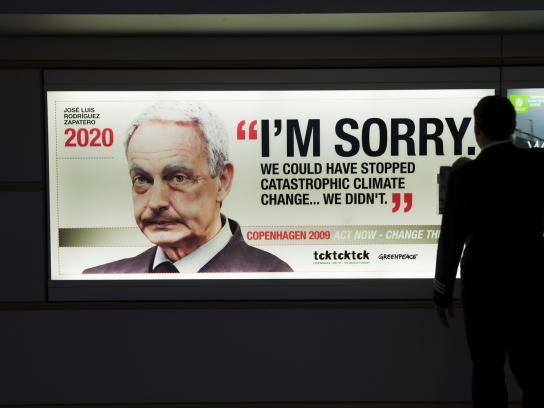 Greenpeace Outdoor Ad -  Jose Luis Rodriguez Zapatero