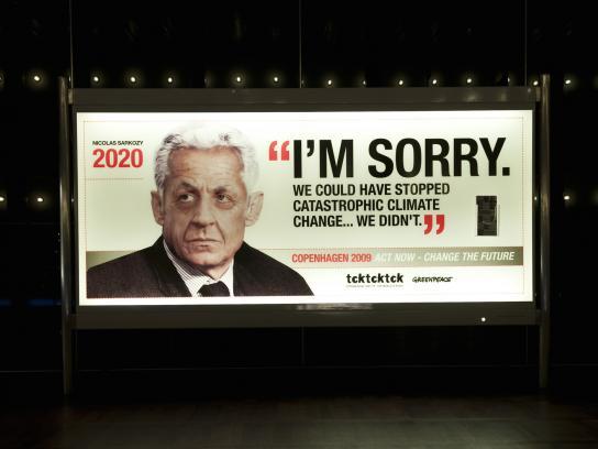 Greenpeace Outdoor Ad -  Nicolas Sarkozy