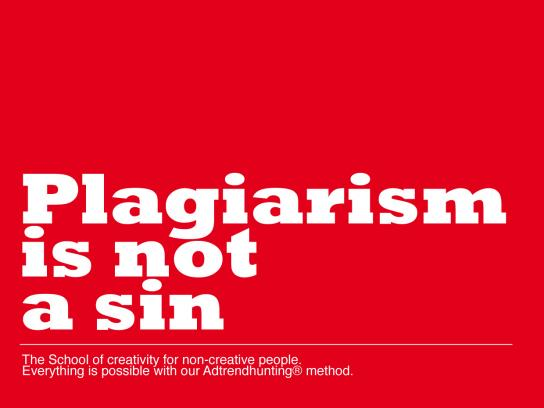 The College of Everything Print Ad -  Plagiarism, 2